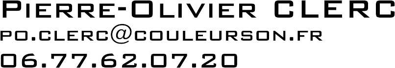 Pierre-Olivier Clerc Couleur Son