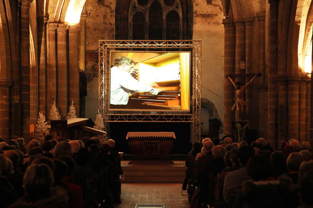 Concert orgue évian captation vidéo Couleur Son