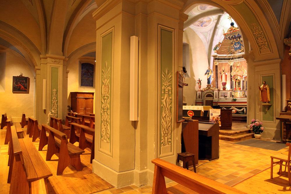 Eglise de Saint Paul en Chablais installation sonorisation Couleur Son